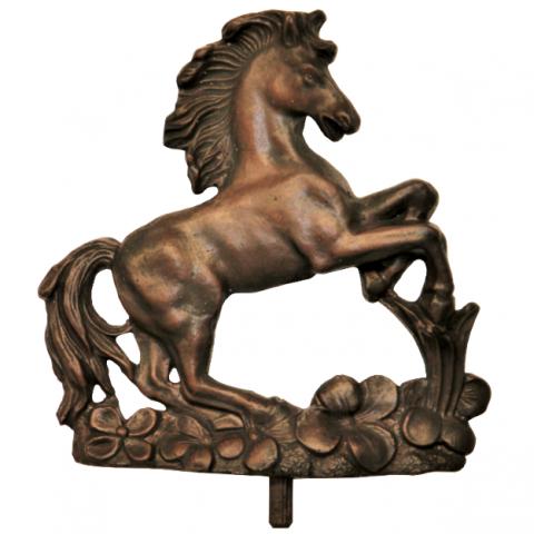 Zierteil Pferd 150 x 160mm Spezialmasse Nussbaum rötlich