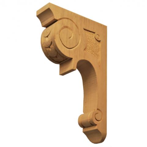 Holzauflage Linde 240x45x150 mm