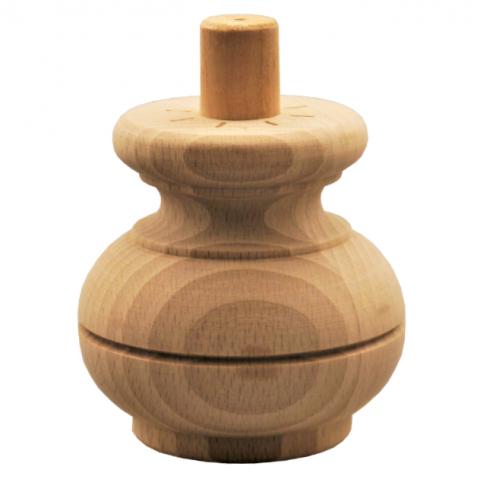 Holzfuß - 3 Holzarten verfügbar - Durchmesser 85 mm Länge 85 mm