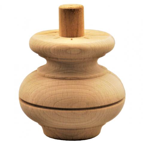 Holzfuß - 3 Holzarten verfügbar - Durchmesser 85 mm Länge 80 mm