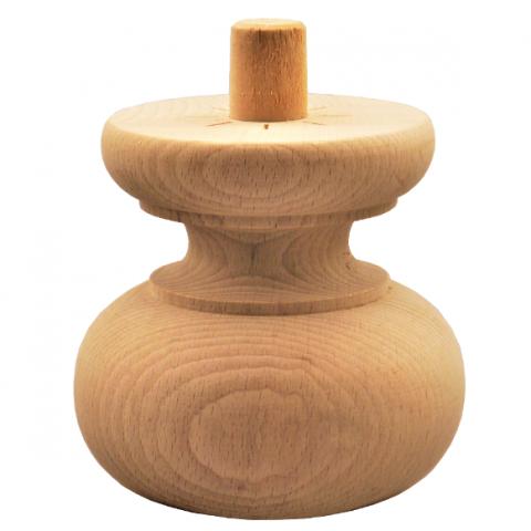 Holzfuß - 2 Holzarten verfügbar - Durchmesser 100mm Länge 95mm