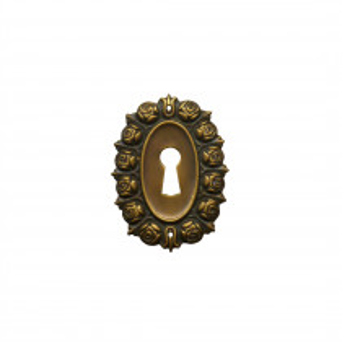 Schlüsselschild Messingblech 48 x 65mm