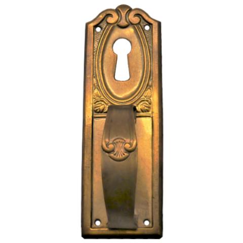 Griffschild mit Schlüsselloch Messingblech 30 x 90mm