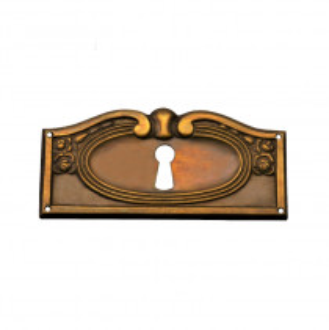 Schlüsselschild Messingblech patiniert in 85 x 40mm