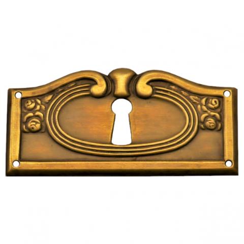 Schlüsselschild Messingblech 65 x 30mm