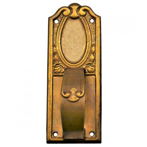 Griffschild Messingblech 25 x 70mm