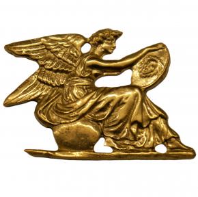 Zierteil Uhren Engel Messingguss 55 x 40mm