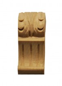 Holzauflage Schnitzteil Linde 25 x 60mm