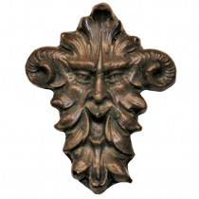 Zierteil 50 x 63mm Spezialmasse Nussbaum rötlich