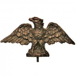 Zierteil 280 x 160mm Adler Spezialmasse Nussbaum rötlich