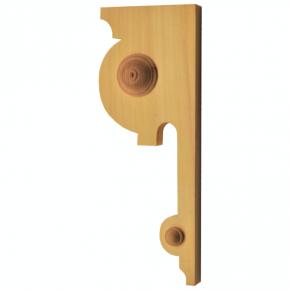 Holzauflage - 2 Holzarten verfügbar - 100x260 mm