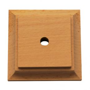 Säulenplatte -3 Holzarten verfügbar - 85x85x20 mm