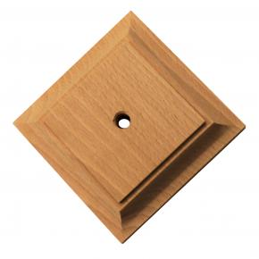 Säulenunterteil - 3 Holzarten verfügbar - 110 x 110 x 20mm