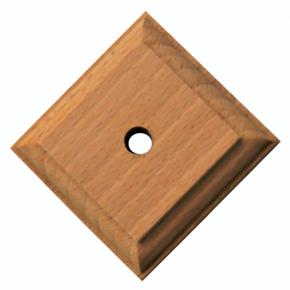 Säulenunterteil - 3 Holzarten verfügbar - 60 x 60 x 12mm