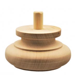 Holzfuß - 2 Holzarten verfügbar - Durchmesser 140mm Länge 75mm