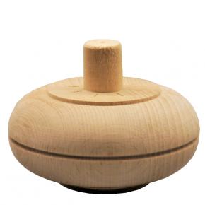 Holzfuß - 2 Holzarten verfügbar - Durchmesser 100 mm Länge 50 mm