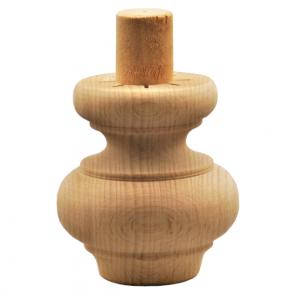 Holzfuß - 2 Holzarten verfügbar - Durchmesser 65 mm Länge 70 mm