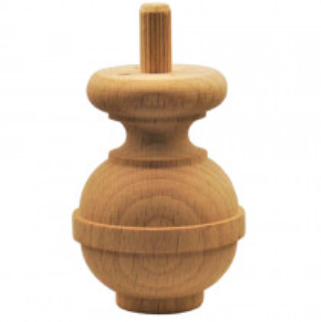 Holzfuß - 2 Holzarten verfügbar - Durchmesser 55 mm Länge 75 mm