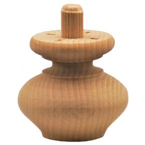 Holzfuß - 2 Holzarten erhältlich - Durchmesser 50 mm Länge 45 mm