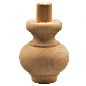 Holzfuß - 3 Holzarten verügbar - Durchmesser 65 mm Länge 80 mm