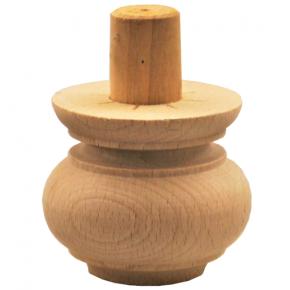Holzfuß - 3 Holzarten verfügbar - Durchmesser 60 mm Länge 50 mm