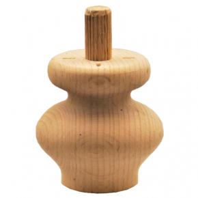 Holzfuß -3 Holzarten erhältlich - Durchmesser 50 mm Länge 50 mm