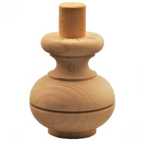Holzfuß - 3 Holzarten verfügbar - Durchmesser 65 mm Länge 75 mm
