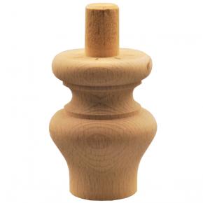 Holzfuß - 3 Holzarten verfügbar - Länge 85 mm Durchmesser 65 mm