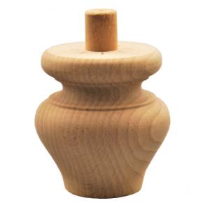 Holzfuß - 3 Holzarten erhältlich - Durchmesser 85 mm Länge 90 mm