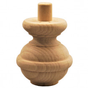 Holzfuß Durchmesser 80 x Länge 90 mm - 3 Holzarten verfügbar - Artikel 1068
