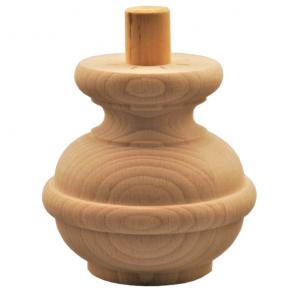 Holzfuß - 3 Holzarten verfügbar - Durchmesser 95 mm Länge 95 mm