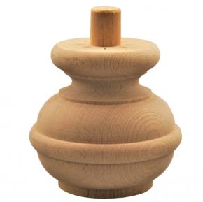 Holzfuß - 3 Holzarten verfügbar - Durchmesser 100 mm Länge 95 mm