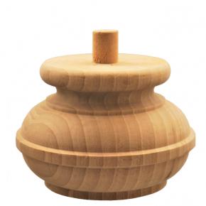 Holzfuß - 3 Holzarten erhältlich - Durchmesser 140 mm Länge 95 mm