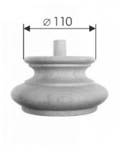 Holzfuß - 3 Holzarten verfügbar - Durchmesser 150 mm Länge 80 mm