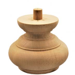 Holzfuß - 3 Holzarten verfügbar - Durchmesser 135 mm Länge 110 mm