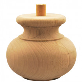 Holzfuß - 3 Holzarten verfügbar - Durchmesser 145 mm Länge 125 mm