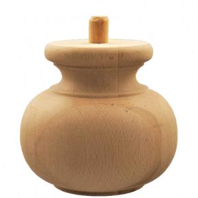 Holzfuß - in 3 Holzarten erhältlich - Durchmesser 165 mm Länge 145 mm