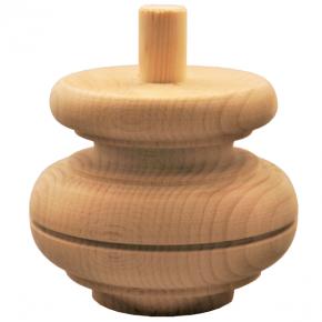 Holzfuß - in 2 Holzarten - Durchmesser 115 mm Länge 95 mm