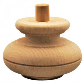 Holzfuß - 3 Holzarten verfügbar - Durchmesser 115 mm Länge 80 mm