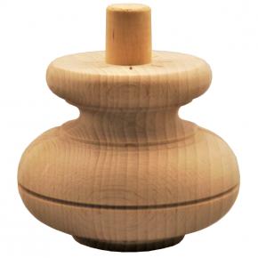 Holzfuß - 3 Holzarten - Durchmesser 100 mm Länge 80 mm