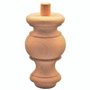 Holzfuß - 2 Holzarten verfügbar - Durchmesser 80 mm Länge 145 mm