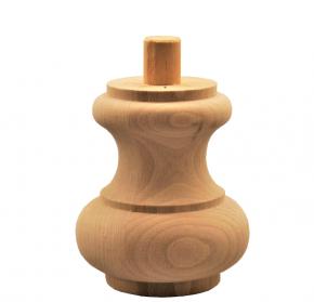 Holzfuß - 2 Holzarten verfügbar - Durchmesser 95 mm Länge 110 mm