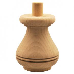Holzfuß - 3 Holzarten verfügbar - Durchmesser 80 mm Länge 100 mm