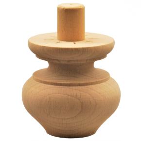 Holzfuß - 2 Holzarten verfügbar - Durchmesser 75mm Länge 70mm