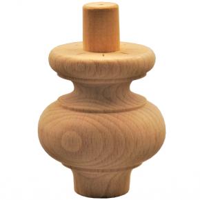 Holzfuß - 2 Holzarten verfügbar - Durchmesser 70mm Länge 80mm