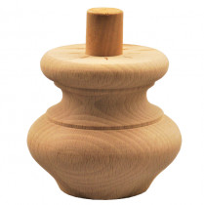 Holzfuß - 2 Holzarten verfügbar - Durchmesser 85mm Länge 75mm