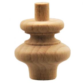 Schatullenfuß - 2 Holzarten verfügbar - Durchmesser 30mm Länge 35mm
