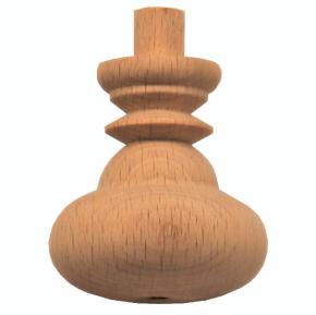 Schatullenfuß - 2 Holzarten verfügbar - Durchmesser 40mm Länge 43mm
