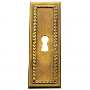 Schlüsselschild Messingblech 33 x 95mm