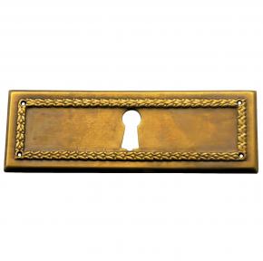 Schlüsselschild Messingblech 95 x 33mm